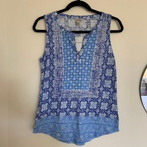 NWT Pattern Blocked Lucky Brand Tank Top Size S